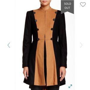 Alice + Olivia Cohen Flared Wool Military Jacket M